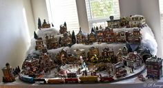 Christmas Village with train tunnel!