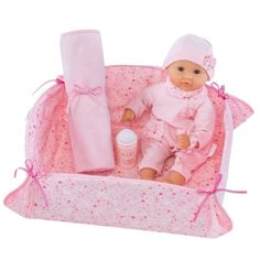 Corolle - Doll 30cm Calin Pink Set with Bed, Blanket and Bottle for my little princess #EntropyWishList #PinToWin