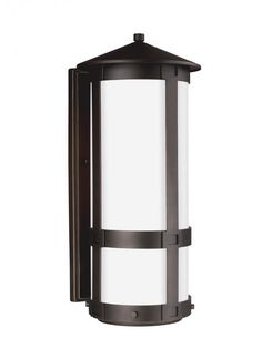 Sea Gull 8635991S-71 - Groveton Large LED Outdoor Wall Lantern in Antique Bronze