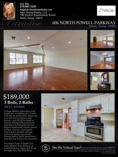 Property Flyer | Virtual Tour  Home for Sale Anna