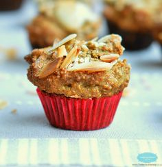 These Almond Coconut Muffins are Paleo friendly, refined-sugar free and perfect as a toddler lunch box snack too.