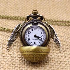 Transporte Da Gota livre Elegante Harry Potter Pomo de ouro relógio de Quartzo Fob Relógio de Bolso Com Colar de Corrente Camisola em Relógios de bolso & Fob de Relógios no AliExpress.com   Alibaba Group