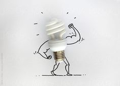 The doodle shows the power of Energy bulb . Literally an Energy Bulb