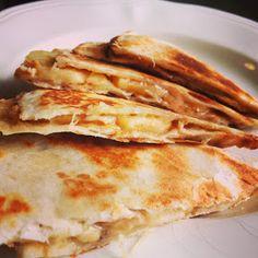 Muffin Tin Mom: Recipe for Peanut Butter, Banana, and Honey Quesadilla