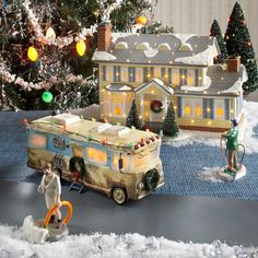 snow village cousin eddies rv from department 56 department 56 villages free shipping on dept 56 - Cousin Eddie Christmas Decoration