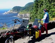 crazyguyonabike.com: Bicycle Touring: Touring on a tandem recumbent, by Earl Doan