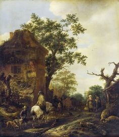 Isaac van Ostade - Rider on the outskirts of the village