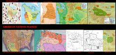 Mappe e carte geografiche mostrano gli itinerari del commercio intertribale e l'ubicazione dei vari popoli al momento dell'incontro, scontro con i coloni statunitensi.