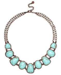 Turquoise Bead Collar Necklace