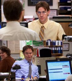 Loved this episode Dwight and Jim tried to dress and act like each other for mocking