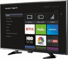 Shop Sharp Class LED Smart HDTV Roku TV at Best Buy. Cheap Tvs, Tv Store, Now Watch, New Netflix, Cable Box, Political News, Cool Things To Buy, Stuff To Buy, Smart Tv