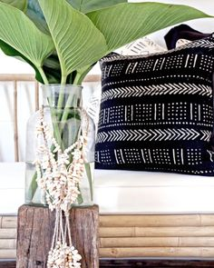 Village - Texture VS Pattern  The perfect harmony of texture & pattern always creates balance to an interior. A neutral base, using natural materials - layered with dramatic contrasting pattern, finished with lush greens!  Featured: African Mudcloth Cushion  Explore these products online & in stores today.  Showrooms: Bundall & Burleigh Online: www.villagestores.com.au (at Village Stores)
