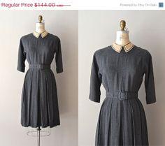 25 OFF SALE.... Good Faith dress / gray 1950s dress by DearGolden, $108.00