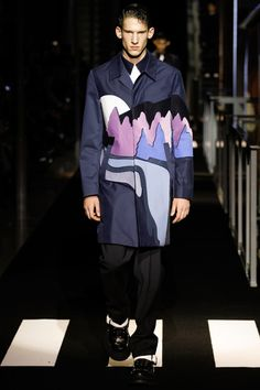 Kenzo | Fall 2014 Menswear Collection | Style.com Love this pop art print coat!