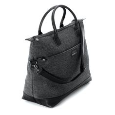 Features: main zipped compartment. multiple inner pockets. adjustable, detachable shoulder strap. Dimensions: L45 • W20 • H35 Material: eco-friendly, high quality polyester. Vegan leather details.