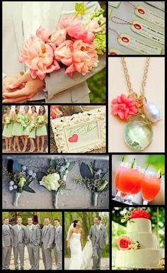 coral & mint wedding!!!!!!!