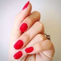 16 PERFECT Ideas For Your Next Manicure #refinery29 http://www.refinery29.com/nail-art-inspiration-instagram#slide2 When in doubt, a bright, cherry red polish never disappoints.