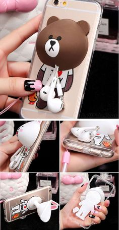 Bear Rabbit Bunny Silicone Winder Lovely IPhone 5/5s/6/6p Cases for big sale! #iphone #case #cute #rabbit #bunny #bear