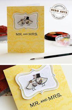 Hero Arts Cardmaking Idea: Mr. and Mrs.