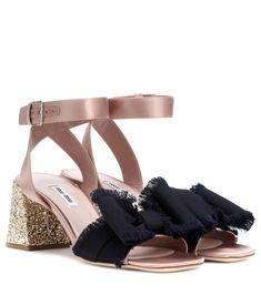 771b41295 Miu Miu - Embellished sandals - Enter the fantastic world of Miu Miu with  these embellished