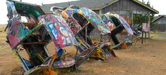 Whether an homage or a riposte, the VW Slug Bug Ranch is another example of the many off-beat sights to be found along Route 66.