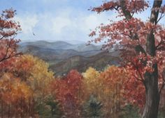 Fall Mountain Landscape Painting