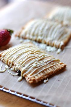 Homemade Strawberry White Chocolate Pop-Tarts