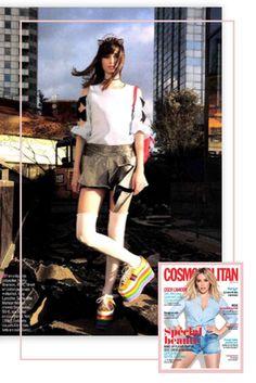 Magazine Cosmopolitan- France - Avril 2017 - Molly Bracken Spring Summer 2017 #cosmopolitan #webdesign #template