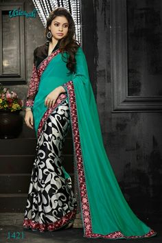 Online saree shopping India at ​sarees palace. cho​ose from a huge collecti​on of designer, ethnic, ca​sual sari, buy sarees online India for all occasions. Indian Designer Sarees, Latest Designer Sarees, Indian Sarees Online, Indian Online, Chiffon Saree, Georgette Sarees, Silk Sarees, Saris, Georgette Fabric