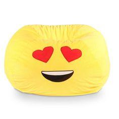 GoMoji Emoji Heart Eyes Bean Bag Chair - 9630101