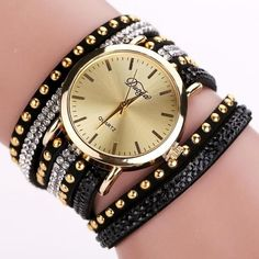 1ca74d1d84f1 Fashion Women s Dress Watch 2017 New Women Watches Bracelet Watch Ladies  Leather Band Gold Big Dial