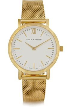 Summer Suit: Watch, Larsson & Jennings, Gold Watch / Garance Doré