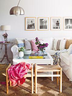 De estilo marinero - Salon comedor - Decoracion interiores - Interiores, Ambientes, Baños, Cocinas, Dormitorios y habitaciones - CASADIEZ.ES