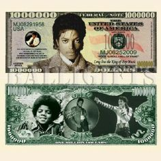 Michael Jackson King of Pop Million Dollar Bill Novelty Note Toy | Balli Gifts