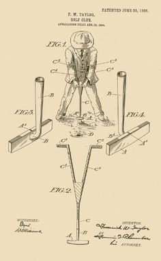 1905 US Patent on Golf Club--Patent Art Print...another one