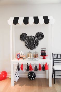 Mickey Mouse ice cream stand from a Classic Mickey Mouse Birthday Party on Kara's Party Ideas | KarasPartyIdeas.com (31)