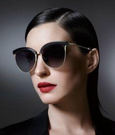 cf708d1962e4 Anne Hathaway   photoshoot for the 2016 Bolon Eyewear Campaign Celebrity  Sunglasses, Sunglasses 2016,