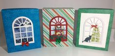 Christmas gift boxes. On my blog I post the tutorial for the windows.