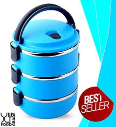 Ace Lunch Box | Beautiful Insulated and Stackable Lunchbox With 3 Storage Compartments | Ultra Safe Stainless Steel Interior With Food Grade Material | Dishwasher Safe Series | Vibrant Blue | 743.2 Ace Lunch Box http://smile.amazon.com/dp/B00Y5A6GXG/ref=cm_sw_r_pi_dp_io05wb1ZGQBPW