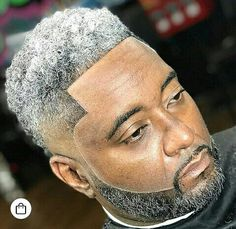 Grey Hair Black Man, Grey Hair Fade, Men With Grey Hair, Black Boys Haircuts, Black Men Hairstyles, Haircuts For Men, Mohawk Hairstyles, Twists, Black Men Beards