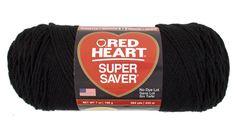 Black ID# E300_312 -  Super Saver Economy Yarn   Red Heart