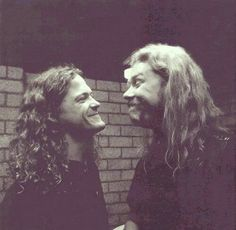 Jason Newsted and James Hetfield