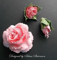 Selma's Stamping Corner and Floral Designs: Tutorial for Creating Roses Using Punches