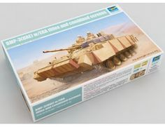 The Trumpeter UAE BMP-3 With ERA Tiles & Combined Screens Model Kit in 1/35 scale from the plastic military model kits range accurately recreates the real life Russian infantry fighting vehicle.