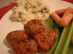 Football Finger Food - Buffalo Chicken Meatballs