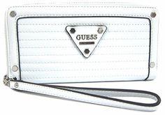 GUESS Presley Women's SLG Zip Around Clutch Wallet, White Slg, Clutch Wallet, Wallets, Womens Fashion, Purses, Women's Fashion, Woman Fashion, Women's Clothing Fashion, Moda Femenina
