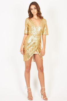 Sequin Dress Gold