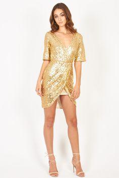 Sequin Dress Gold