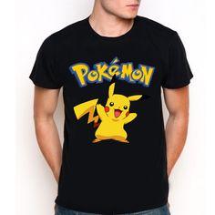 New PIKACHU Pokemon Mascot Cartoon Movie Game Black T-Shirt Tee All Size XS-XXL
