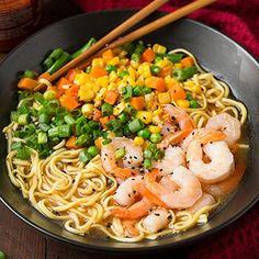 Easy 15 Minute Japanese Miso Ramen Recipe - shortcut using ramen package and add fresh ingredients.  ~